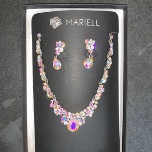 Mariell Regal AB Crystal Necklace & Earrings Set